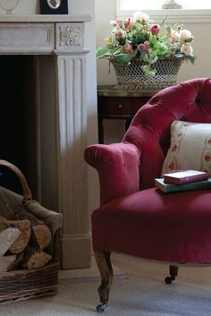 <3 Red Cottage, Cottage Style, Cottage Chic, Kate Forman, Ivy House, Cozy Corner, Take A Seat, Beautiful Homes, Sweet Home