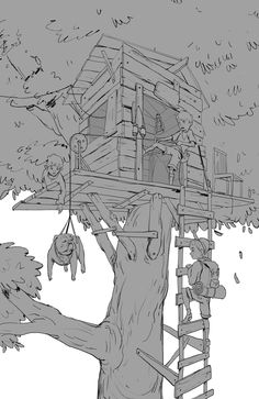 House on the tree on Behance