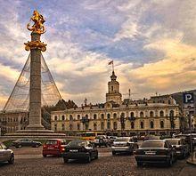 Plaza de la Libertad. Tiflis bajo control ruso. Capital de Georgia. Asia. Localizada estratégicamente entre Europa y Asia y antiguamente situada en la Ruta de la Seda, Tiflis ha sido a menudo un punto clave en las relaciones de imperios rivales.