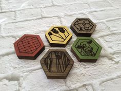 Settlers of Catan Coasters Game Board Coasters by PrintOnAnything