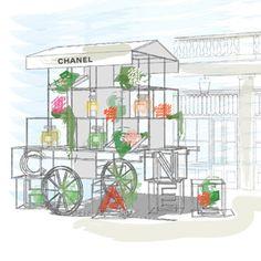 Chanel Open Flower Stall In Covent Garden