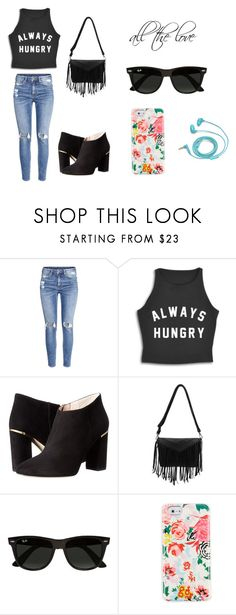 """""""Untitled #50"""" by karenrodriguez-iv on Polyvore featuring H&M, Kate Spade, Ray-Ban, ban.do and FOSSIL"""