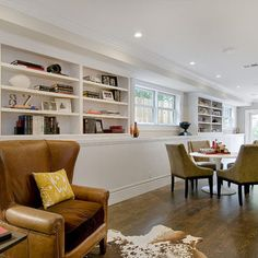 Family Room Small Basement Renovations Design, Pictures, Remodel, Decor and Ideas