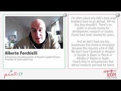 pinITALY - intervista ad Alberto Forchielli sul posto fisso e la fuga dei cervelli in Italia - YouTube