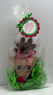 Reindeer and Snowman bags  (Holdls 3 candy kisses