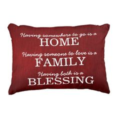 Motivational Typography Household Quote Accent Pillow. ** Take a look at more at the image link