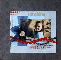 Layout by Petrina McDonald using Craft Queen April 2012 ribbon club