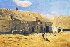 Claude Monet Farmyard at Chailly 1865 in high definition on Impressionist Paintings, Impressionism, France Art, Art Database, Farm Yard, Claude Monet, Vincent Van Gogh, Modern Art, Artwork