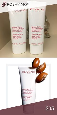 Clarins Moisture Rich Body Lotion duo ‼️NEW‼️ This set includes two tubes. Clarins Moisture Rich Body Lotion with shea butter is an intensive moisturizing lotion that helps smooth dry, rough patches and improve skin tone for a youthful allover glow.  Formulated with candlenut oil to instantly hydrate and soothe skin, oat extract to soften and moisturize, and shea to smooth,  moisturize and comfort. Clarins Other