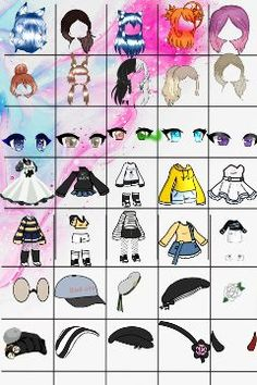 pandora_life's Photos, Drawings and Gif Красота Drawing Anime Clothes, Manga Clothes, Anime Drawing Styles, Anime Girl Drawings, Cute Kawaii Drawings, Drawing Sketches, Art Style Challenge, Drawing Challenge, Cute Anime Chibi