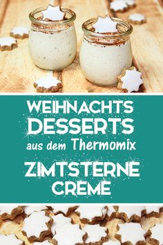 Zimtsterne Creme - Delicious Christmas Dessert from the Thermomix - Homemade . Christmas Buffet, Christmas Desserts, Fun Desserts, Homemade Christmas, Desserts Thermomix, Tasty, Yummy Food, Trifle, Great Recipes