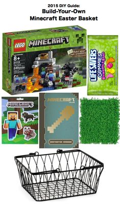 2015 diy guide build your own minecraft easter basket for kids 2015 diy create guide ideas to build your own minecraft easter gift basket negle Gallery