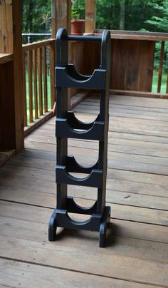 Wood Wine Rack or Towel Holder Black Shabby Chic by LittlestSister, $29.75