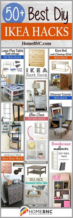 IKEA Hack Ideas to update your home decor easily. These Ikea hack ideas are easy to do, cheap and look great. Ikea Shelves, Ikea Storage, Storage Hacks, Ikea Organization Hacks, Shelving Units, Closet Shelves, Diy Hacks, Home Hacks, Cleaning Hacks