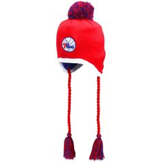 New Era Philadelphia 76ers Team-Tone Tassle Knit Hat - Red - $19.94