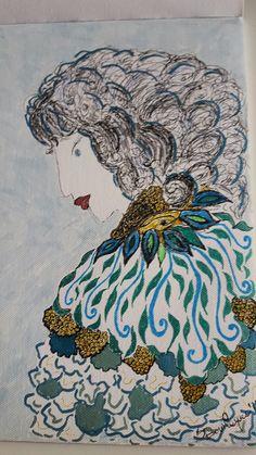Donna azzurra