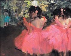 Edgar Degas. Dancers in Pink.