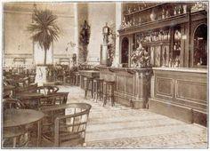 Rimini 1910 circa Interno del Kursaal. Il Bar
