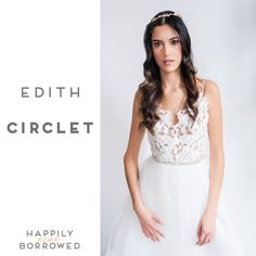 If you're missing a touch of gold then Justine M Couture has the ideal piece for you!  The Edith Circlet is available  Don't miss it ladies  https://www.happilyeverborrowed.com/collections/headbands/products/edith-circlet?variant=807951757  #keepcalmborrowon