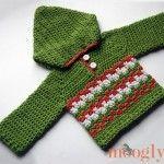 Leaping Crochet Baby Hoodie