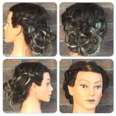 Extensions & Messy braided Updo