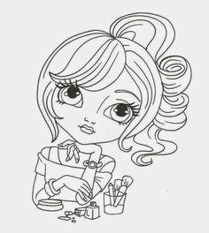 Mari Digis Challenge Blog: Freebie Coloring Book Pages, Coloring Sheets, Coloring Pages For Kids, Whimsy Stamps, Kids Story Books, Book Cafe, Digital Stamps, Colorful Pictures, Book Illustration
