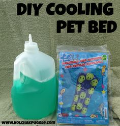DIY Cooling Pet Bed