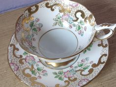UNIQUE vintage Royal Stafford tea cup and saucer by ShoponSherman