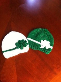 St patrick's hat size  baby girl or baby boy shamrock by NARELO, $20.00