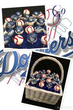 Dodgers Cakepops
