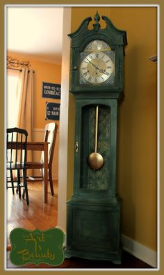 ART IS BEAUTY: Grandmother Clock Reveal (again) with Living room reveal