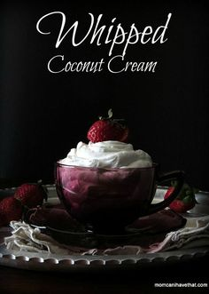 Whipped Coconut Cream is a great dairy-free whipped topping - and easy to make! My how-to video proves that even husbands can do it. | low carb, gluten-free, dairy-free, Paleo, keto |
