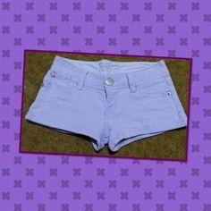 """Soft purple low waist denim shorts Good condition low waist size 26"""" Jeans"""