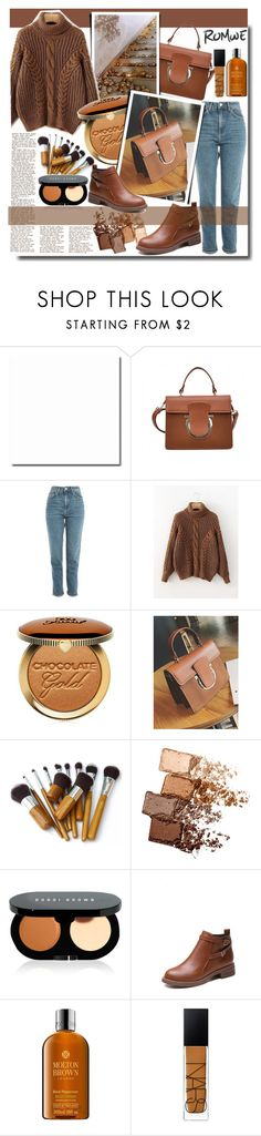 """""""Brown Outfit /ROMWE"""" by fashiondiary5 ❤ liked on Polyvore featuring Topshop, Too Faced Cosmetics, Maybelline, Bobbi Brown Cosmetics, Molton Brown, NARS Cosmetics and romwe"""