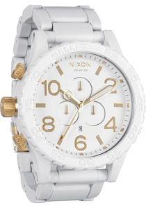 e53a56e4c3 Nixon 51-30 Chrono All White Gold Watches For Men