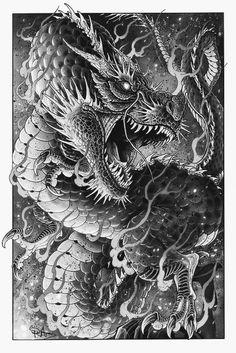 Dragon - - - The Dragon – Dragon – - Japanese Dragon Tattoos, Japanese Tattoo Art, Japanese Tattoo Designs, Japanese Sleeve Tattoos, Dragon Tattoo Sketch, Dragon Sleeve Tattoos, Dragon Tattoo Designs, Dragons Tattoo, Tattoo Muster