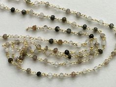 Multi Rutile Faceted Rondelle Beads in 925 Silver by gemsforjewels