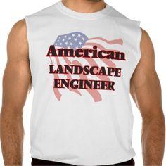 American Landscape Engineer Sleeveless Shirt Tank Tops