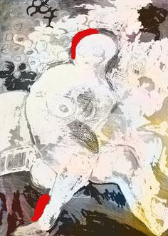 """New Media, """"white up"""" New Media, Rooster, Saatchi Art, Artworks, Ink, Artist, Painting, Animals, Animales"""