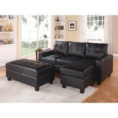 Free Shipping. Buy Dorel Living Small Spaces Configurable Sectional ...