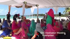 Sikh Weddings Cancun Mexico | #sikhpriest Cancun Wedding, Sikh Wedding, Cancun Mexico, Destination Weddings, Priest, Caribbean, Destination Wedding