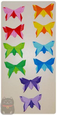 Ímãs de borboletas. Feito com papel dupla face.
