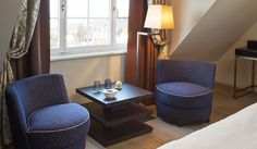 The Zur Fernsicht Hotel and Restaurant (Heiden, Switzerland), furniture contract project by Oasis. On this image, armchairs Ava, designed by Massimiliano Raggi.