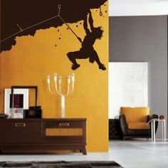 For as much as I love modern, I also love rustic.   I'd take a home climbing wall. Any day.