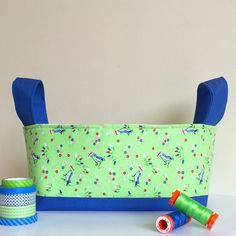 Love all Pam Kitty Morning fabrics! These blue birds over green background are one of my favorites!Such a great color combination! Love how this hour basket turned out 💕
