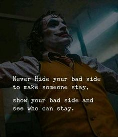 Never hide your bad side to make someone stay, show your bad side and see who can stay Reality Quotes, Mood Quotes, Attitude Quotes, True Quotes, Fit Quotes, True Sayings, Quotes Motivation, Positive Quotes, Fitness Motivation
