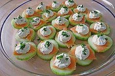Gurken-Lachs-Häppchen (Rezept mit Bild) von Aurora   Chefkoch.de