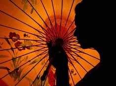 Woman With Parasol, Australia Photograph by Helen Dittrich, My Shot | An orange paper parasol silhouettes a woman's curves. In ancient Egypt, China, India, and Mesopotamia, umbrellas protected important people from the sun. (From the National Geographic book Visions of Earth)