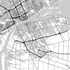 Toronto Canada Map poster borderless print template Toronto