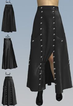 Double Button Victorian Walking Skirt by Amber Middaugh 2015